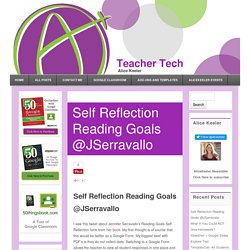Self Reflection Reading Goals @JSerravallo - Teacher Tech
