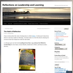Reflections on Leadership and Learning