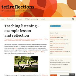 Teaching listening – example lesson world cup