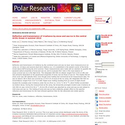 Reflection and transmission of irradiance by snow and sea ice in the central Arctic Ocean in summer 2010