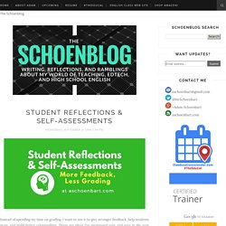 The Schoenblog: Student Reflections & Self-Assessments