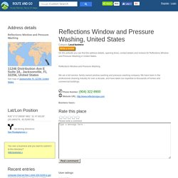 Reflections Window and Pressure Washing 11246 Distribution Ave E Suite 18,