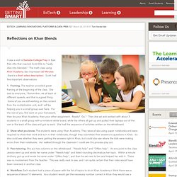 Reflections on Khan Blends - Getting Smart by Tom Vander Ark - blended learning, Khan Academy, math