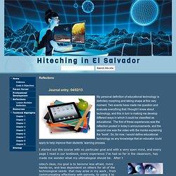 Reflections - Hiteching in El Salvador
