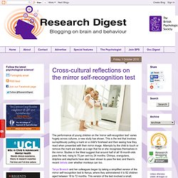 Cross-cultural reflections on the mirror self-recognition test