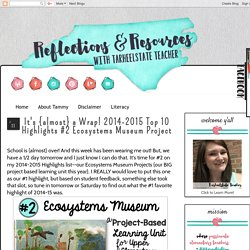 Reflections and Resources from Tarheelstate Teacher: It's {almost} a Wrap! 2014-2015 Top 10 Highlights #2 Ecosystems Museum Project