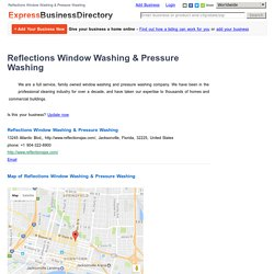 Reflections Window Washing & Pressure Washing, 13245 Atlantic Blvd,,  Jacksonville, Florida, 32225, United States