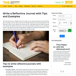 How to Write a Reflective Journal with Tips and Examples