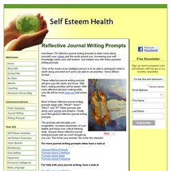 Reflective Journal Writing Prompts