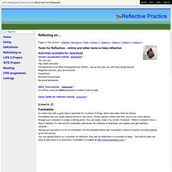 Reflective Practice - Tools