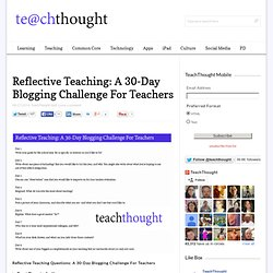 Reflective Teaching Questions: A Challenge For Teachers