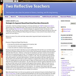 Strategies for Argument Based Read Aloud from Mary Ehrenworth