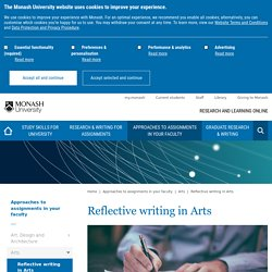 Reflective writing in Arts