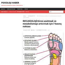 REFLEKSOLOJİ:Stresi azaltmak ve metabolizmayı arttırmak için 7 basınç noktası – psikoloji haber