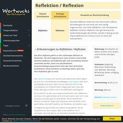 Reflektion / Reflexion