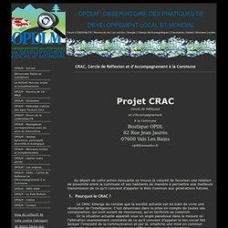 Projet CRAC : Cercle de Réflexion et d'Accompagnement à la Commune - OPDLM !