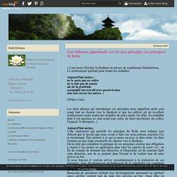 Une réflexion approfondie sur les cinq préceptes (ou principes) du Reiki - Reiki-reunion