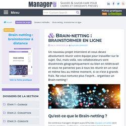 Brain-netting : pour une réflexion collective à distance