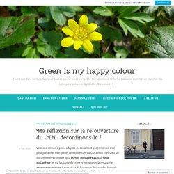 Ma réflexion sur la ré-ouverture du CDI : déconfinons-le ! – Green is my happy colour