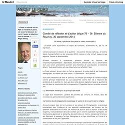 Comité de réflexion et d'action laïque 76 – St- Etienne du Rouvray, 30 septembre 2014