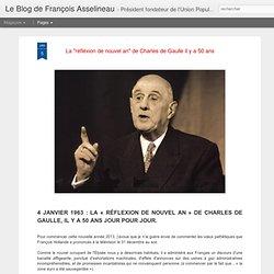 """La """"réfléxion de nouvel an"""" de Charles de Gaulle il y a 50 ans"""