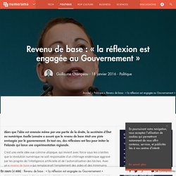 Revenu de base : « la réflexion est engagée au Gouvernement » - Politique