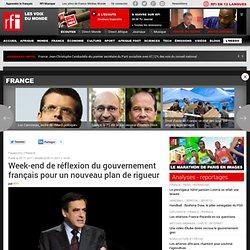 Week-end de réflexion du gouvernement français pour un nouveau plan de rigueur