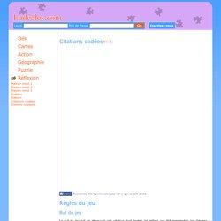 Jeu de réflexion gratuit en ligne : jouer aux Citations Codées