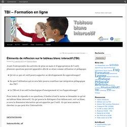 Éléments de réflexion sur le tableau blanc interactif (TBI)
