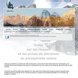 Réflexion sur les risques liés au paralpinisme en wingsuit Technique et sécurité - Paralpinisme
