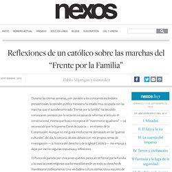 """Reflexiones de un católico sobre las marchas del """"Frente por la Familia"""""""