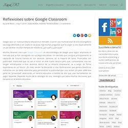 Reflexiones sobre Google Classroom