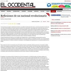 Reflexiones de un nacional revolucionario