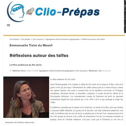 Réflexions autour des taïfas Clio Prépas