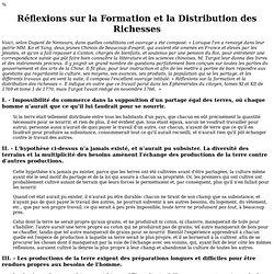Réflexions sur la Formation et la Distribution des Richesses