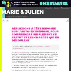 Auto-entreprenariat ? l Marie & Julien