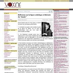 Réflexions sur la figure esthétique et littéraire du dandy Robert Steuckers voxnr.com