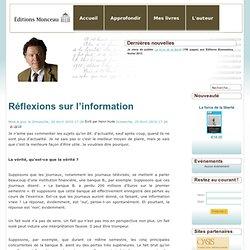 Henri Hude réfléxions sur l'Info