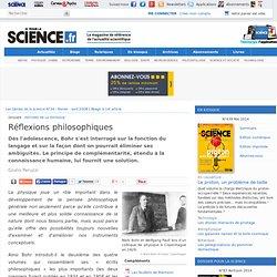 1 - Réflexions philosophiques (Bohr)