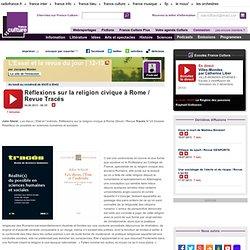 Réflexions sur la religion civique à Rome / Revue Tracés