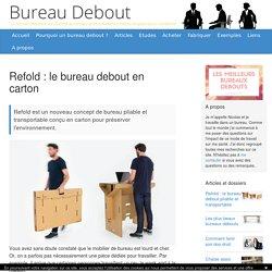 Refold : le bureau debout en carton