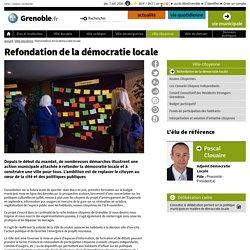 Refondation de la démocratie locale