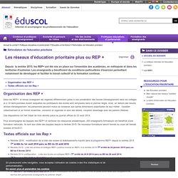 Refondation de l'éducation prioritaire - Les REP+