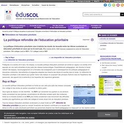 Refondation de l'éducation prioritaire - La politique refondée de l'éducation prioritaire