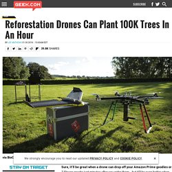 Reforestation Drones Can Plant 100K Trees In An Hour