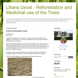 Medicinal use of the Trees : Extreme Reforestation