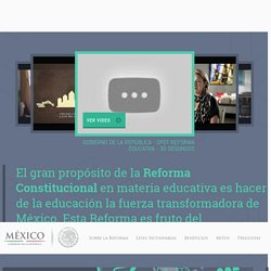 Reforma Educativa. Leyes Secundarias.