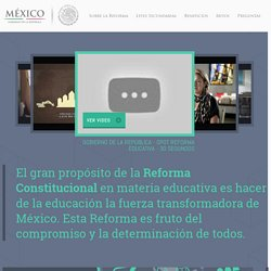 Reforma Educativa. Leyes Secundarias.