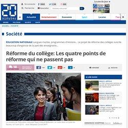 Réforme du collège: Les quatre points de réforme qui ne passent pas