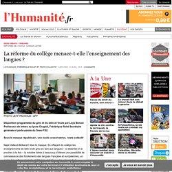 La réforme du collège menace-t-elle l'enseignement des langues ?